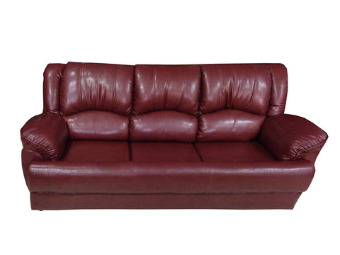 Voxo Three Seater Leather Sofa - FabX