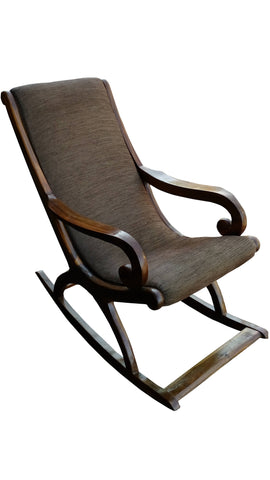 Classic Teak Rocking Chair with cushion - FabX - 1