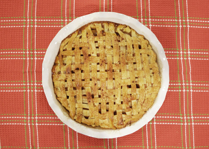 Apple Pie with a Sateen Weave Crust
