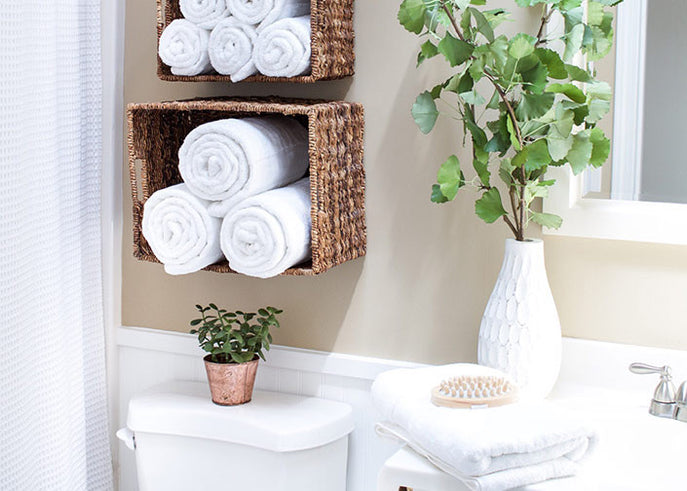 Hang, Drape and Roll: How to Display Your Bath Towels