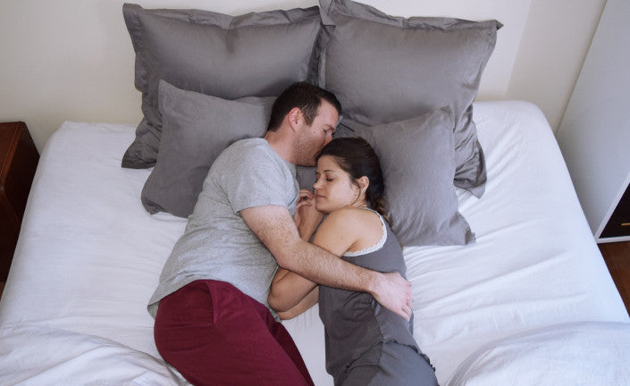 The Nestle Cuddling Position in Boll & Branch Sheets