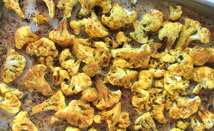Roasted Cauliflower for a Healthy Winter Recipe for Boll & Branch