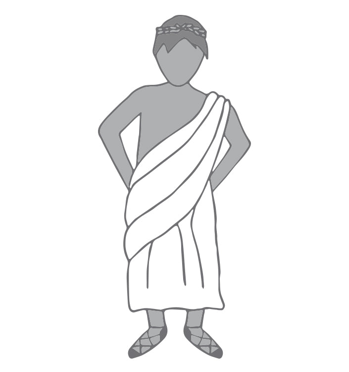 Use Old Bed Sheets as a Greek Toga Costume for Halloween