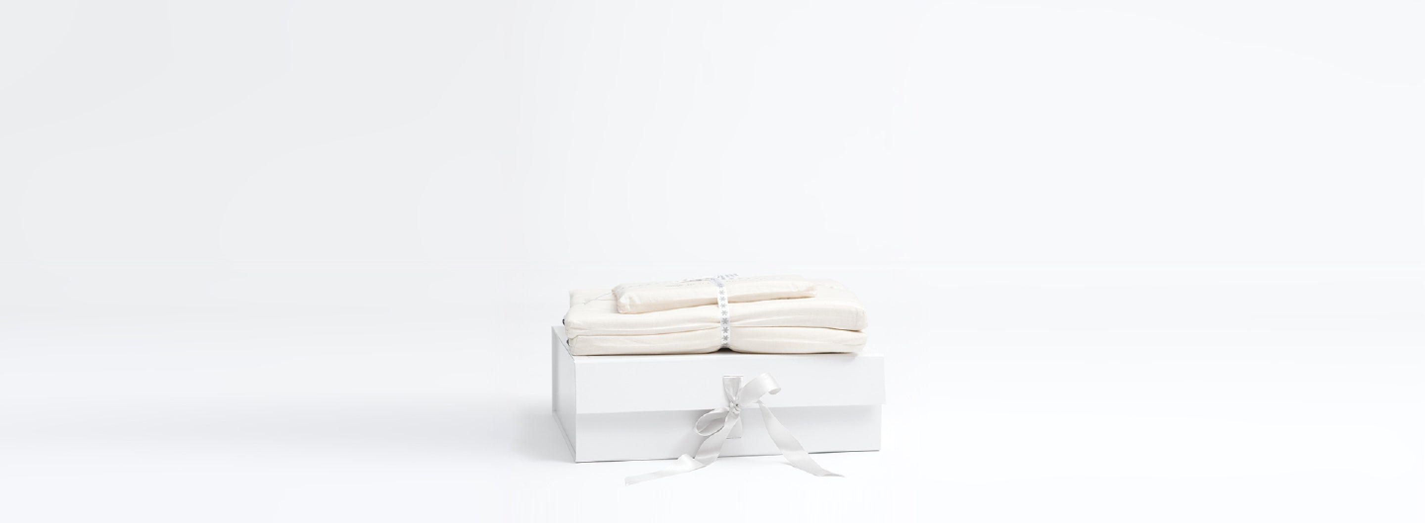 Gift Wrapped Sheets with White Background