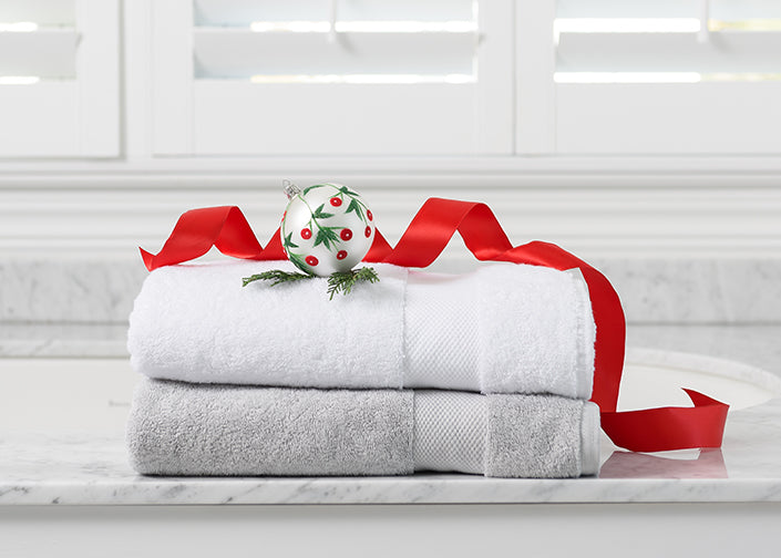 Luxury Organic Cotton Hand Towels for the Holidays