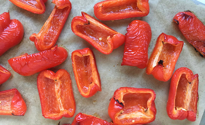 Sliced Red Peppers for A Healthy Winter Recipe