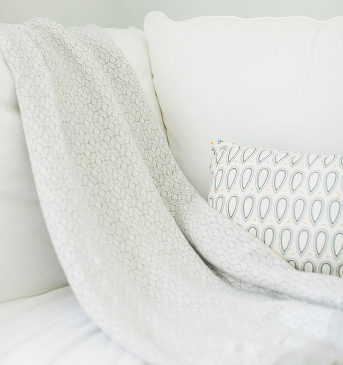 Cotton Throw in Neutral Colors