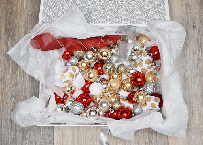 Recycle a Box for Christmas and Holiday Ornaments and Decorations