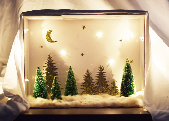 Recycle a Box for a Holiday Shadow Box