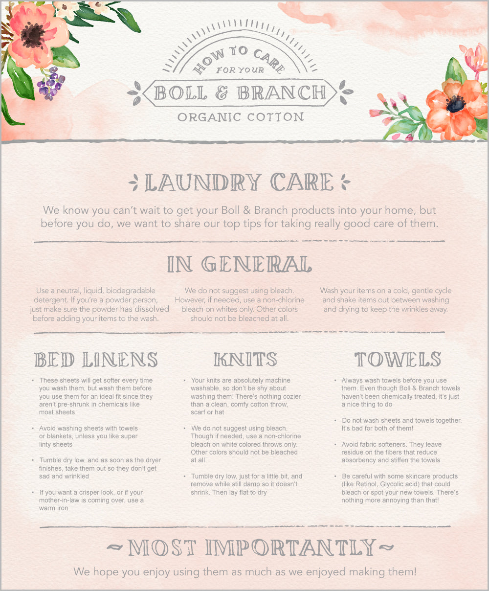 How To Wash Luxury Bedding Boll Branch