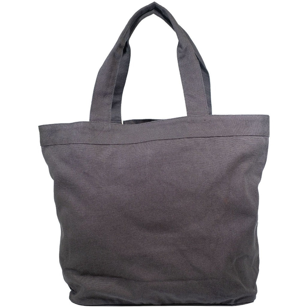plain tote bags charcoal color