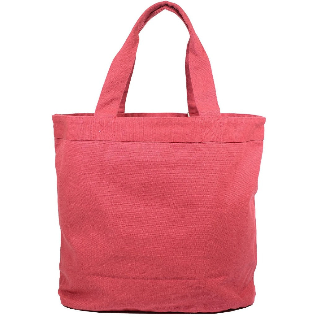 reusable organic tote bags red