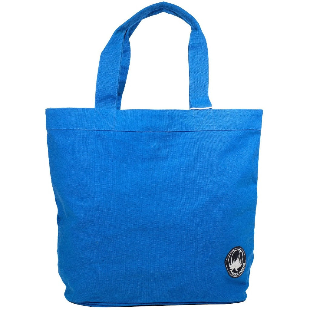 Blue Colored Tote Bag fairtrade