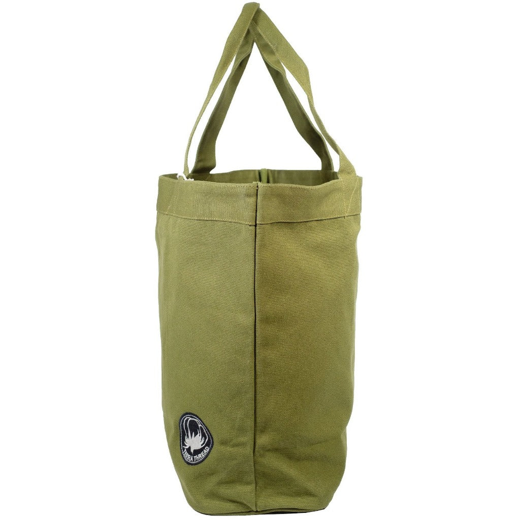 army green tote bag