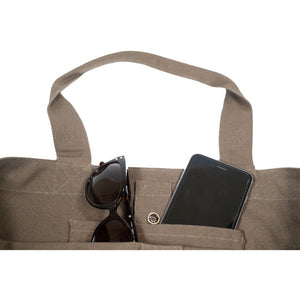soft brown tote bag organic cotton