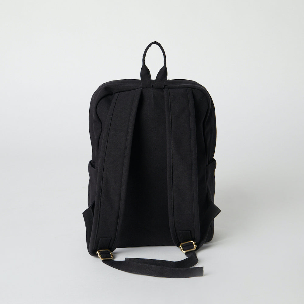 Load image into Gallery viewer, Back view of a Terra Thread Fair Trade vegan backpack