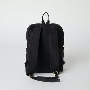Black color vegan backpack for school and college.