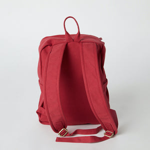 Load image into Gallery viewer, Back view of a Terra Thread Fair Trade backpack
