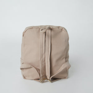 back view of sustainable fashion backpack