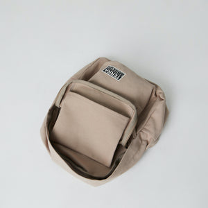 inside view of sustainably made backpack