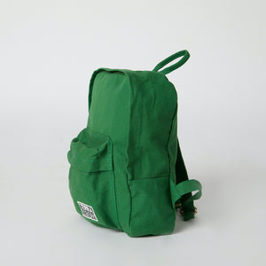 side view of sustainable fashion backpack