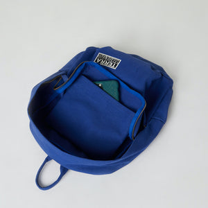 blue color backpacks sustainable with inside pocket