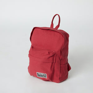 Red mini backpack with front pocket