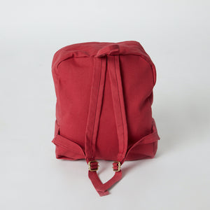 Sustainable backpack in red minimalist color