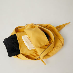 Inside of a Terra Thread yellow backpack women's