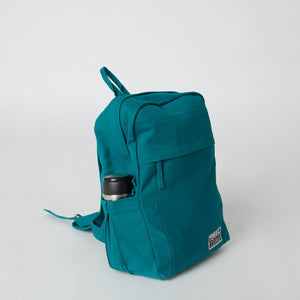 Load image into Gallery viewer, Side view of a Terra Thread vegan ethical backpack