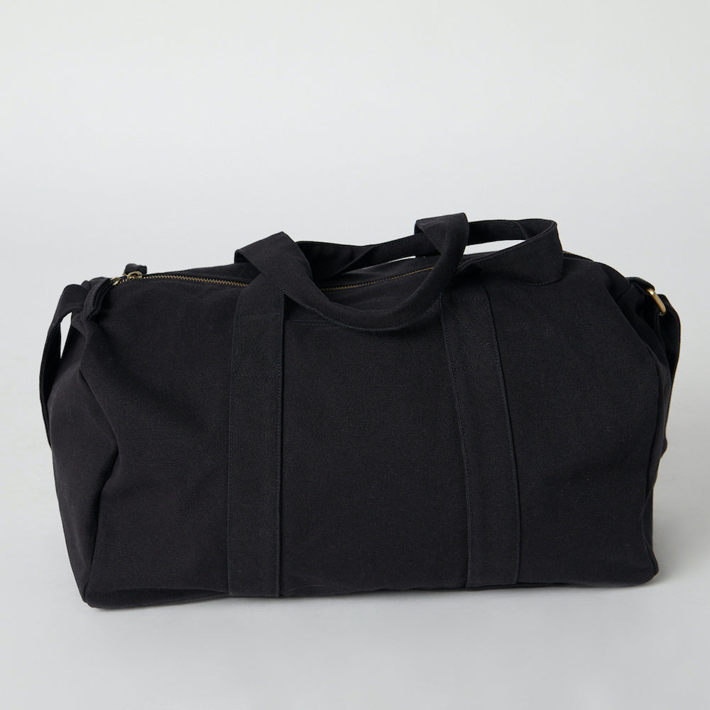 ethically made gym bag black color