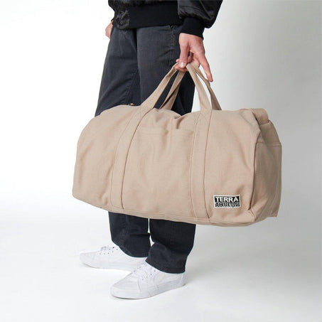 Weekender Duffel Bag Made with Organic Cotton Canvas