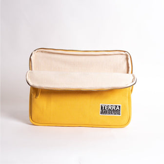13 inches macbook laptop sleeve in mustard yellow color