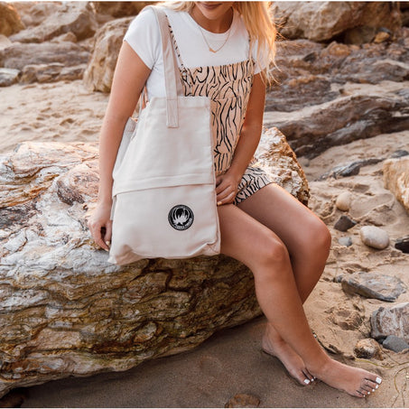 Natural Tote Bag for Work and Beach