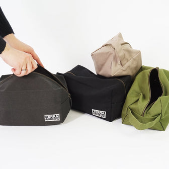 Sustainable Plastic Free Toiletry Bags for Travel