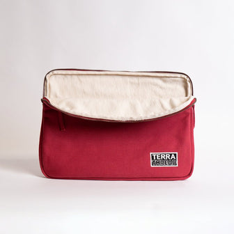 15.6 inches laptop sleeve made with organic cotton canvas
