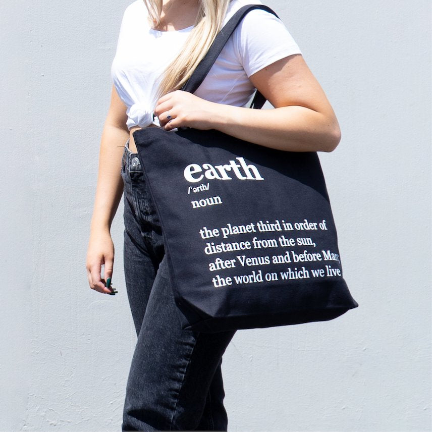 Black color Sustainable Tote Bag for work