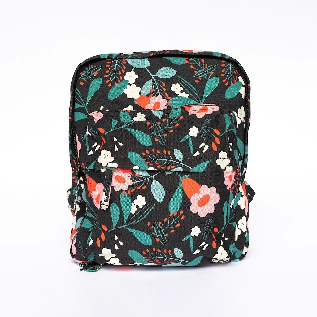 Sustainable Mini Backpack - Limited Floral Design