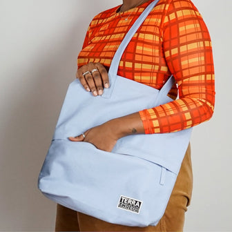 Work tote made with sustainable material