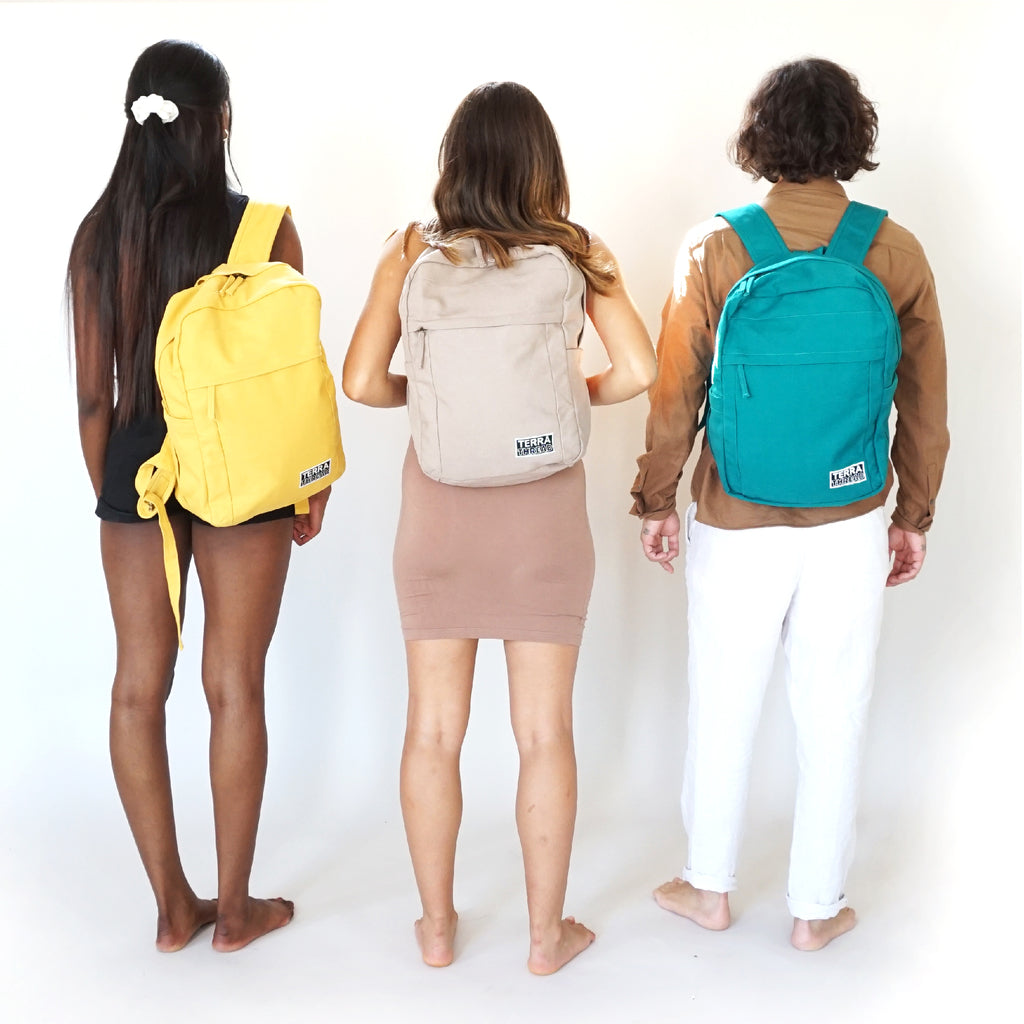 Sustainable Backpack for Back to School in red