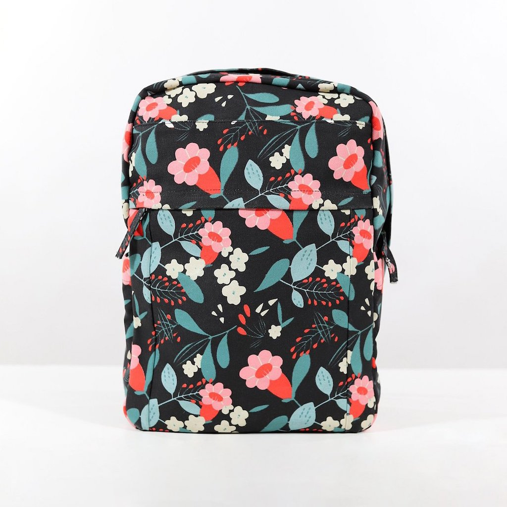Sustainable backpack limited floral design