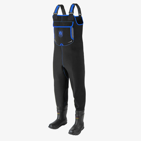 Retro Neoprene Waders | Mens - Blue