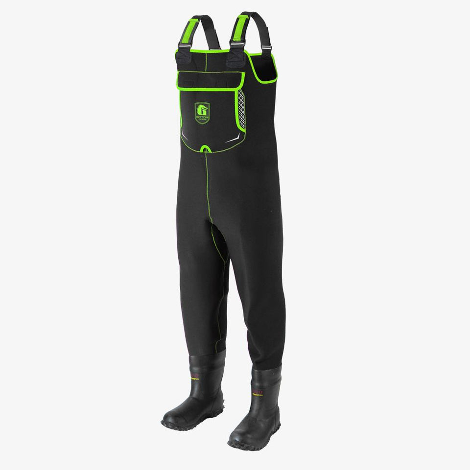 Retro Neoprene Waders | Mens - Lime Offroad Gator Waders
