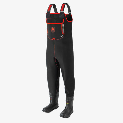 Retro Neoprene Waders | Mens - Red