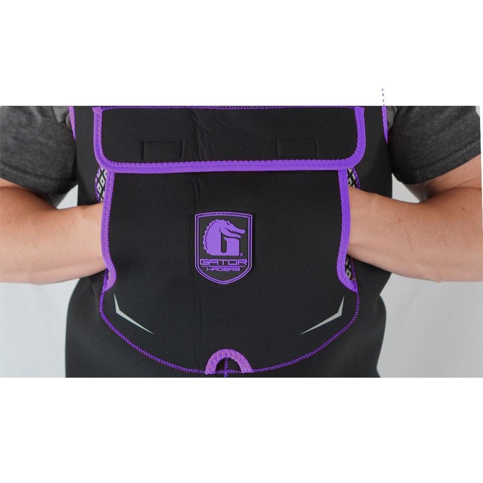 Retro Neoprene Waders | Womens - Purple Offroad Gator Waders