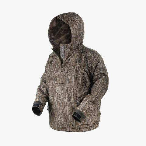 Waterproof 1/2 Zip Bog 2.0 Hoodie | Mens - Mossy Oak Bottomland