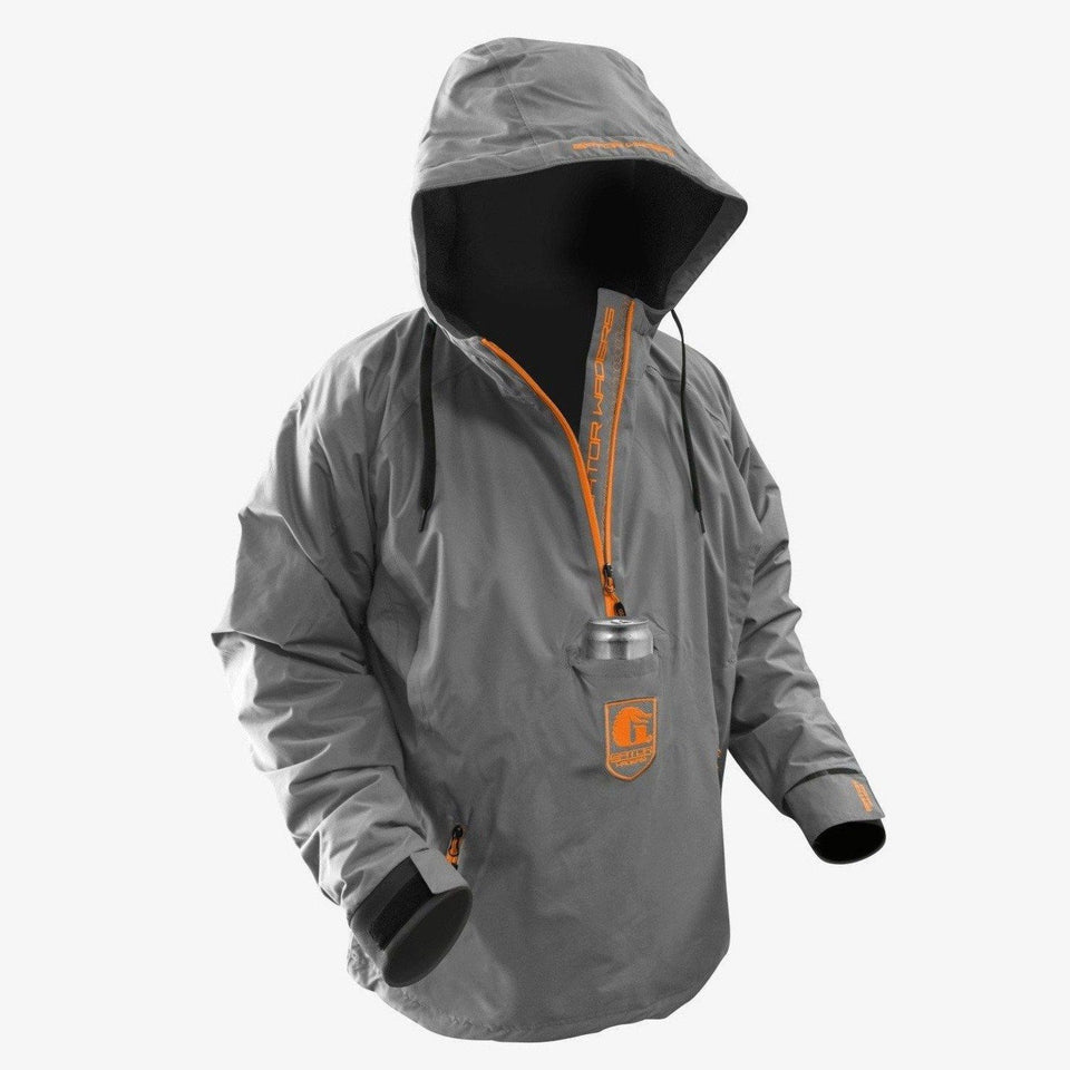 Waterproof 1/2 Zip Bog Hoodie | Mens - Orange Offroad Gator Waders