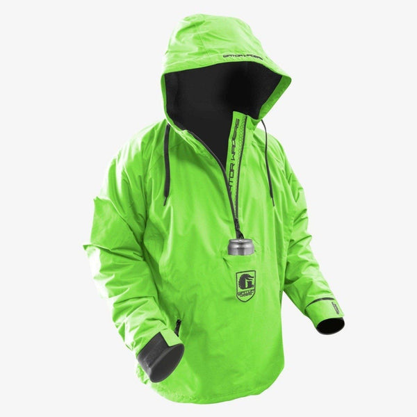 Men's Waterproof 1/2 Zip Bog Hoodie - Lime/Black
