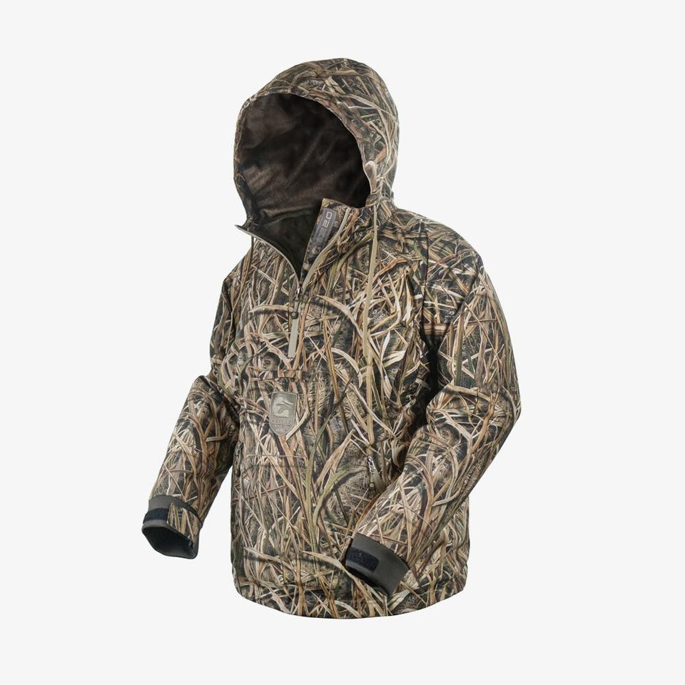 Waterproof 1/2 Zip Bog 2.0 Hoodie | Mens - Mossy Oak Shadow Grass Blades Hunt Gator Waders