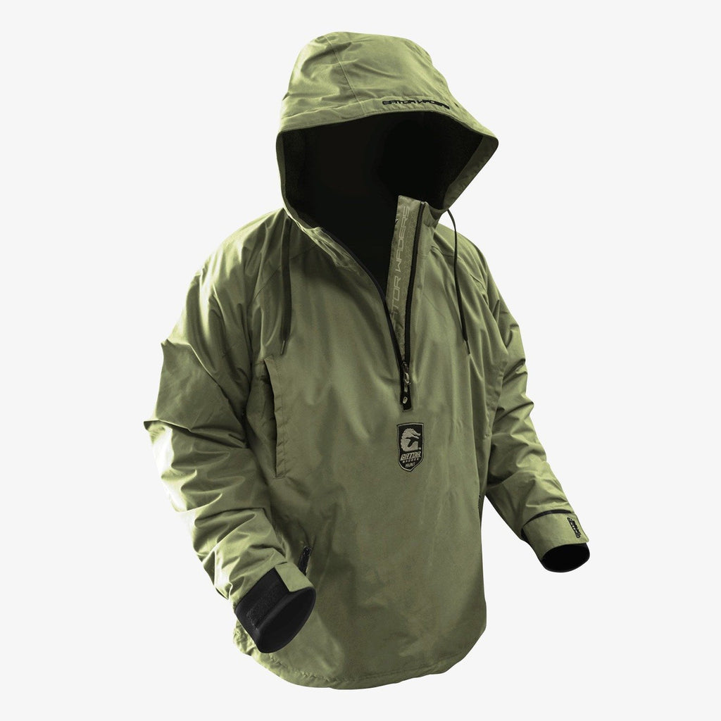 PRE-ORDER - GW Hunt Waterproof 1/2 Zip Bog Hoodie - Timber Green